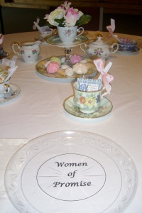 Tea sponsored by the Women of Promise